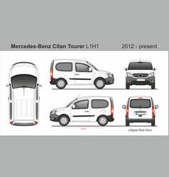 Mercedes citan passenger van l1h1 2012-present vector