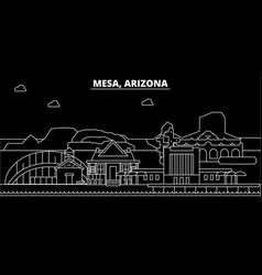 mesa silhouette skyline usa - mesa city vector image