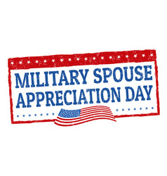 Military spouse day sign or stamp vector