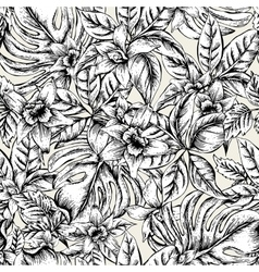 Natural floral leaves exotic seamless vector image