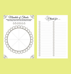 Notebook planner thank day draw vector