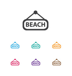 of travel symbol on beach icon vector image
