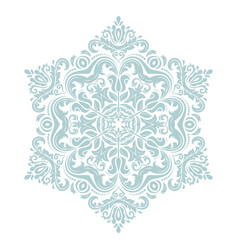 Oriental pattern with arabesques and floral vector