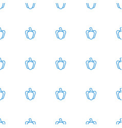 pepper icon pattern seamless white background vector image