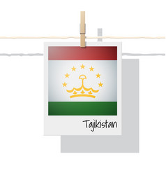 Photo of tajikistan flag vector