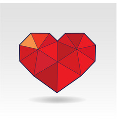 polygonal heart shape low poly love vector image