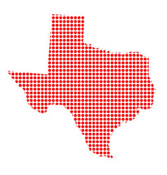 Red dot map of texas vector