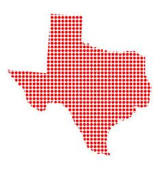 Red dot map texas vector
