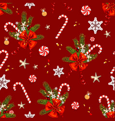 red happy holiday pattern vector image