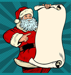 santa claus character christmas and new year vector image