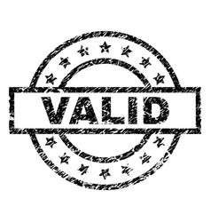 scratched textured valid stamp seal vector image