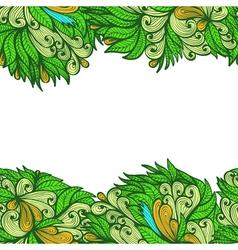 Seamless abstract horizontal greenl pattern vector image vector image