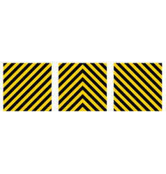 set warning striped rectangular background vector image