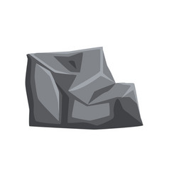 Solid stone with lights and shadows piece of vector