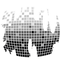 squares texture mono drops vector image