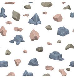 Stone rock rockstone rocky mountain in vector