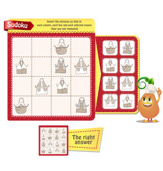 Sudoku game logic kitchen aprons vector