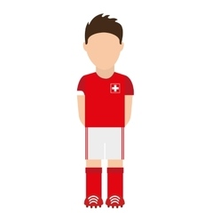 Swiss football player icon vector image