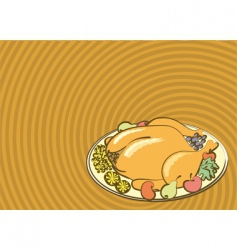 thanksgiving meal vector image