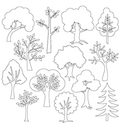 Tree outlines vector