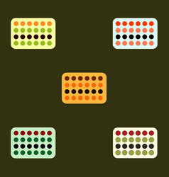 twister game mat collection vector image