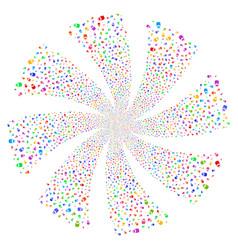Vial fireworks swirl rotation vector
