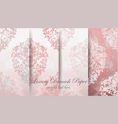 vintage baroque pattern set beautiful vector image