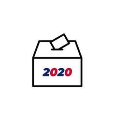 vote box icon symbol for your web site design vector image