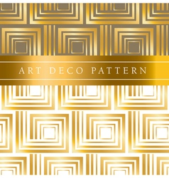 White and gold square seamless pattern in ar deco vector