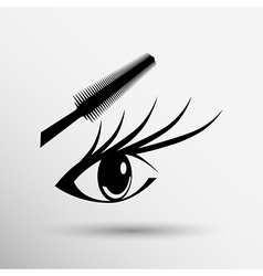Woman eye with beautiful makeup and long eyelashes vector