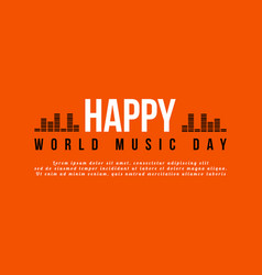 world music day celebration background style vector image