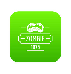 Zombie nightmare icon green vector