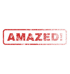 amazed exclamation rubber stamp vector image
