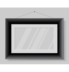 Black frame isolated on grey background vector image