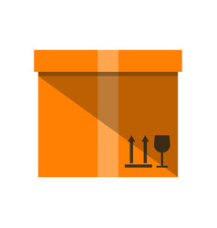 cardboard box icon in flat design vector image vector image