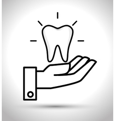 care tooth odontology service vector image vector image