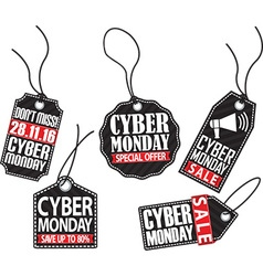 Cyber monday tag set vector