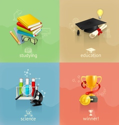 Education concepts set vector image vector image