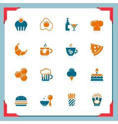 food icons 2 - in a frame series vector image