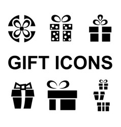 gift or present icon vector image