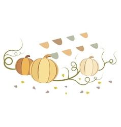 vintage pumpkins vector image