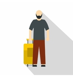 Arabic man icon flat style vector image