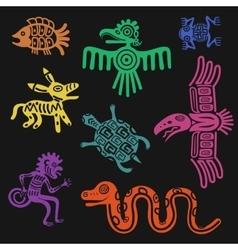 aztec symbols or inca pattern culture signs vector image