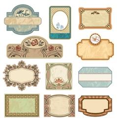 Ornate vintage labels vector image vector image