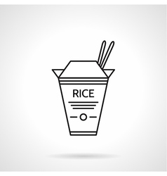 Rice pack black line icon vector image vector image