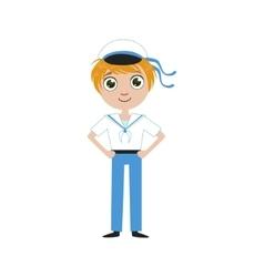 Boy Future Sailor vector image vector image