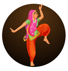 solo dance performed by girl in silk shirt and vector image