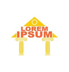 Architectural logo Greek temple columns logo The vector image