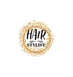 badge for small businesses - beauty salon hair vector image