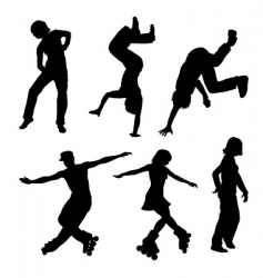 dancer silhouettes vector image